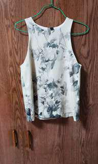 TCL black floral cut in top
