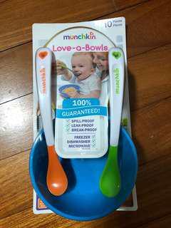 Munchkin bowls and spoons