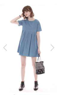 ACW Denim Babydoll Dress in Midwash