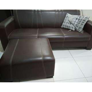 L Shape Sofa Semi-Leather