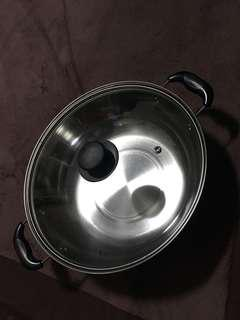 Stainless Steel Cooking Pot with Lid/Induction cooker cooking pot