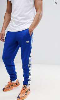 Adidas originals tracksuit jogger bottoms in blue