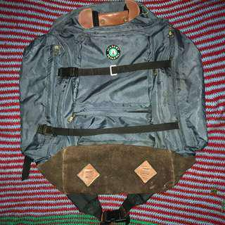 Vintage Travel Bagpackers Bag 100 litre Academy Broadway