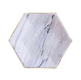 12 Pcs Marble Paper Plate