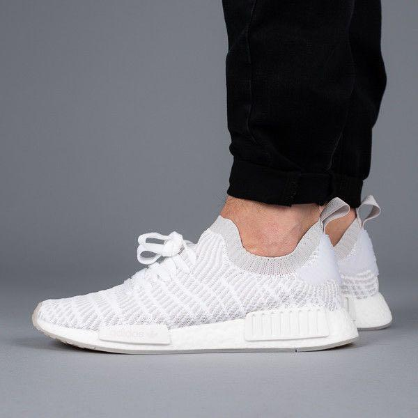 Adidas NMD R1 STLT White Grey, Women's