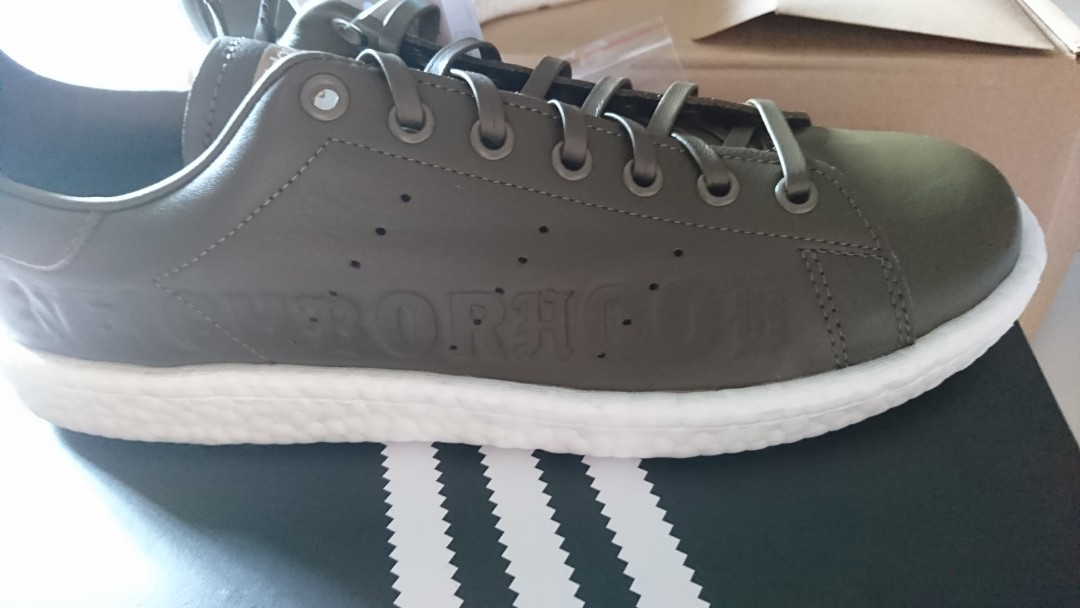 online store 51da6 5b17c Adidas Stan Smith Boost x Neighborhood Collaboration Olive, Mens Fashion,  Footwear, Sneakers on Carousell