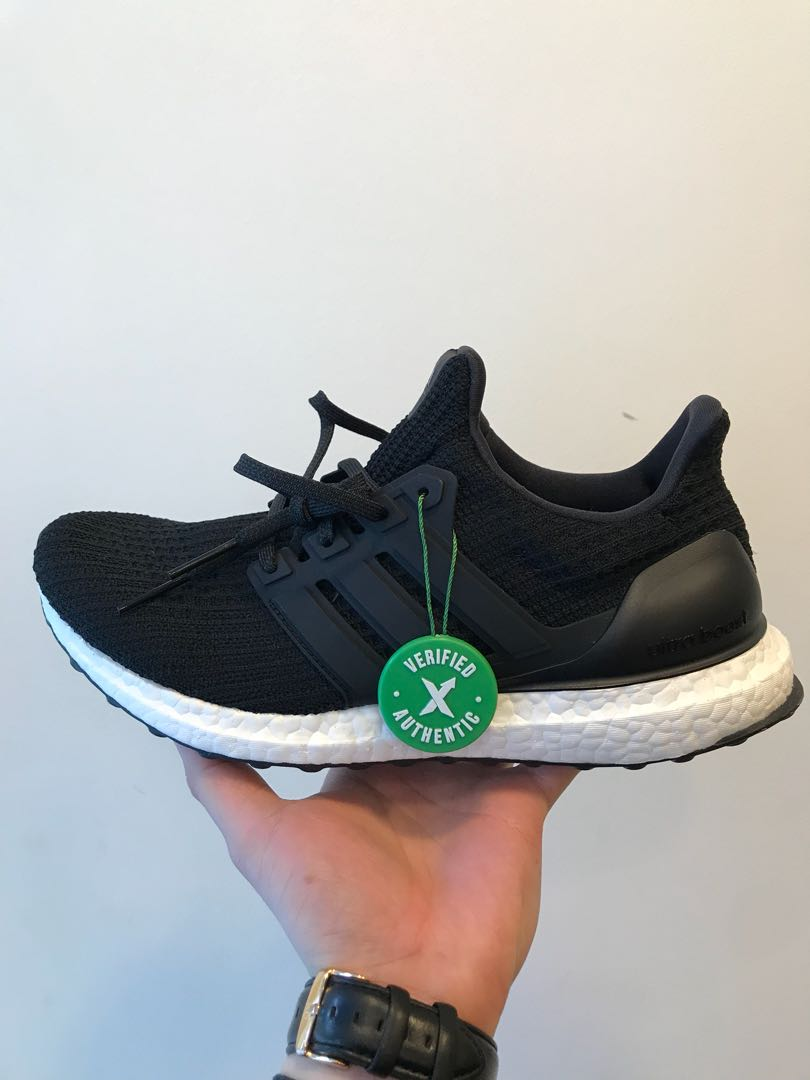 76ec7fe9 ADIDAS ULTRA BOOST CORE BLACK US8, Men's Fashion, Footwear, Sneakers ...