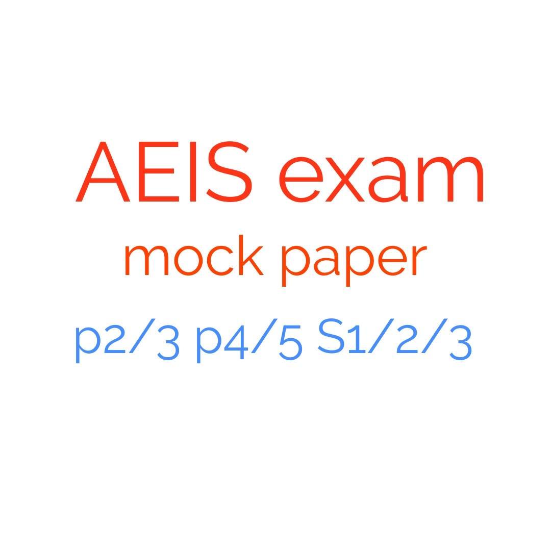 AEIS exam paper mock English and Math, Books & Stationery