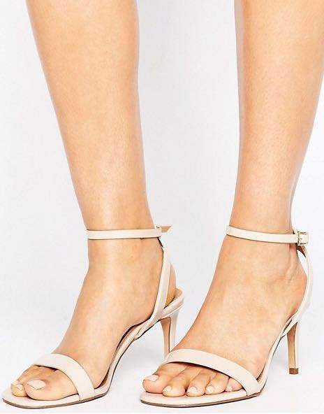 267c3160ea ASOS HALF TIME barely there heeled sandals , Women's Fashion, Shoes, Heels  on Carousell