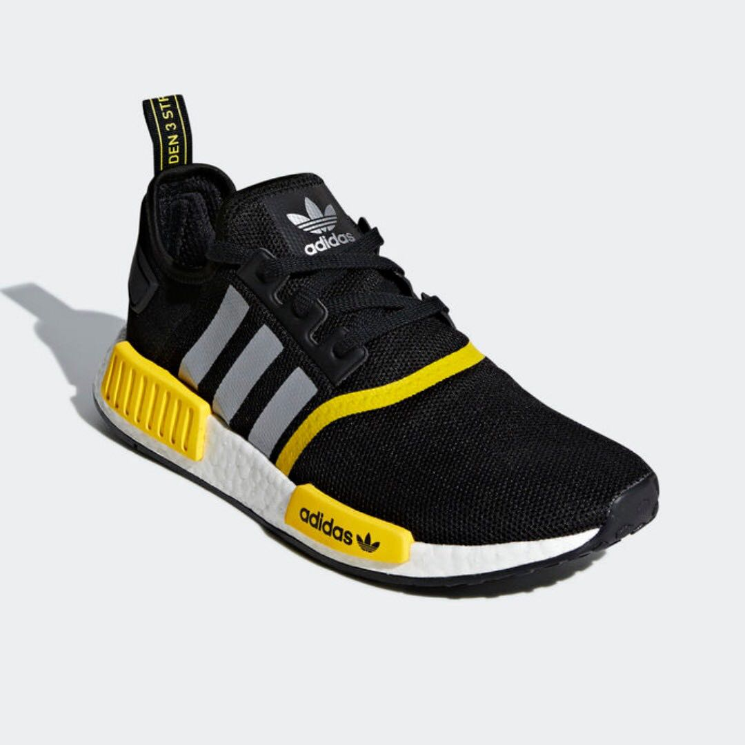 d7a5ffd65 Authentic Adidas NMD R1 Black   Yellow