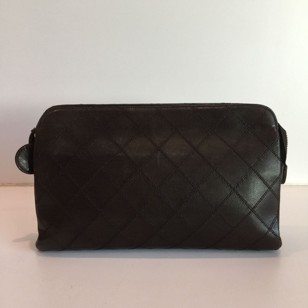 Authentic CHANEL Cosmetic Pouch cf8201019e239