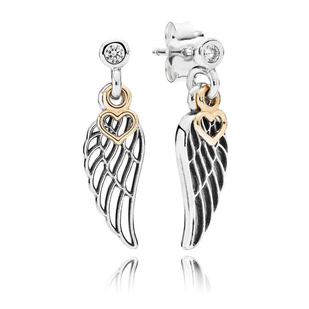 53097269b Authentic Pandora Earrings Angel Swing Stud Earrings with Cubic ...