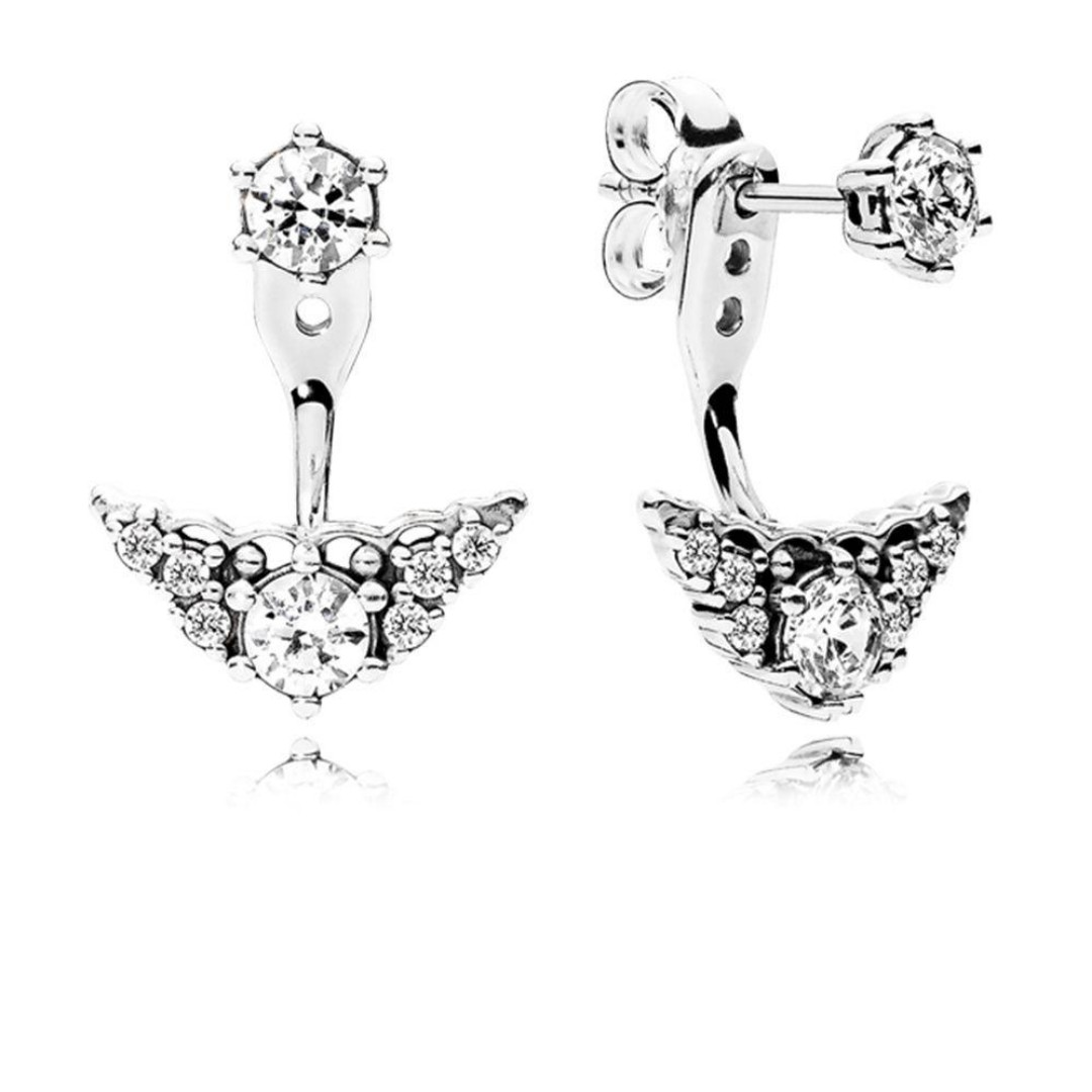 5810d8ff5 Authentic Pandora Earrings Fairytale Tiara Stud Earrings with Cubic ...
