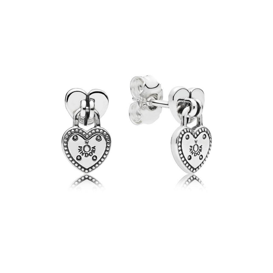 9e4b2dbdb Authentic Pandora Earrings Love Locks Stud Earrings with Cubic ...