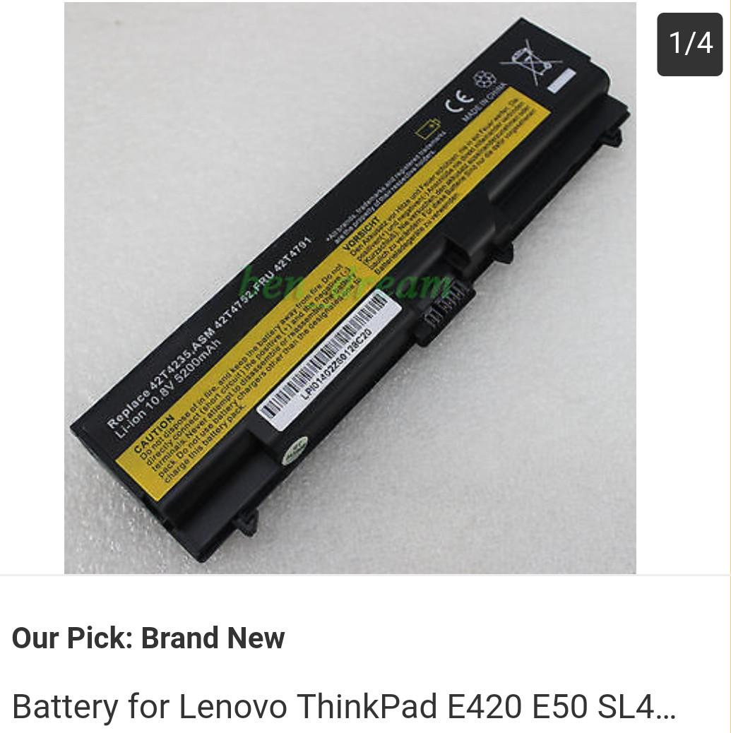 Battery for Lenovo ThinkPad E420 E50 Sl410 Sl510 T410i T420 T510i T520 W510  W520
