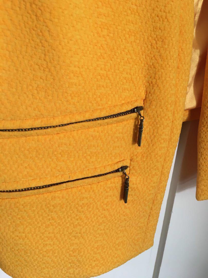 Beautiful Sheike Mustard Yellow Blazer - Size 10 - Worn Once