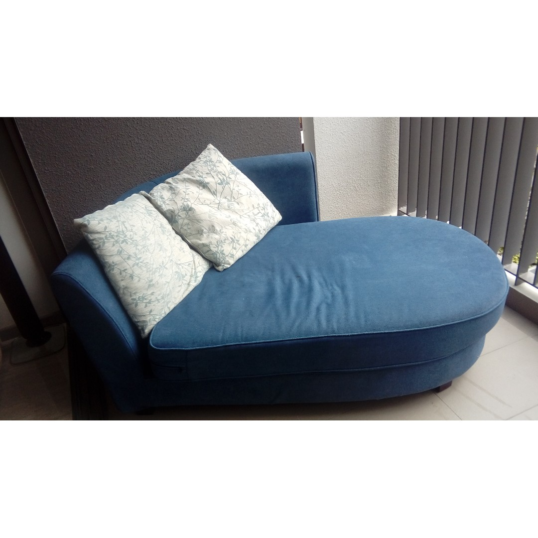 Blue Sofa Chaise Lounge For Sale Furniture Sofas On Carousell