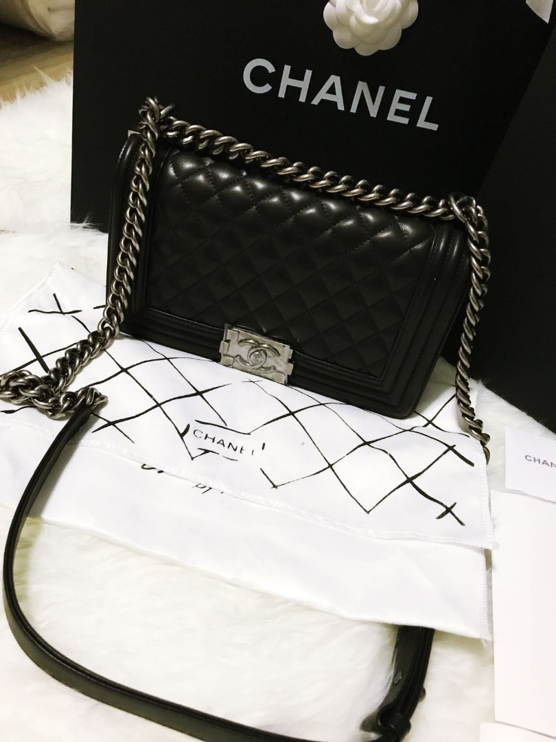 442885c88ca4 BN Chanel Boy Flap, Luxury, Bags & Wallets, Sling Bags on Carousell