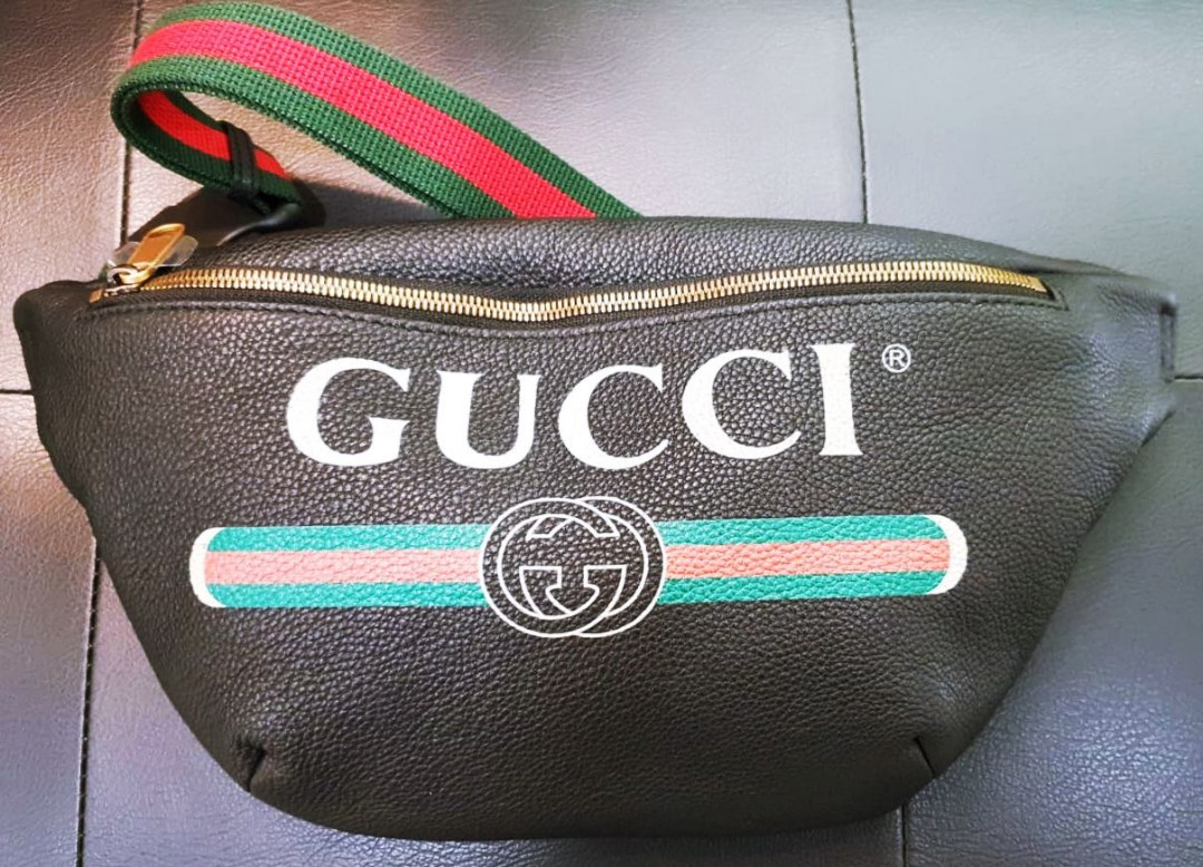123cd91f21c BN Gucci Leather Belt Bag