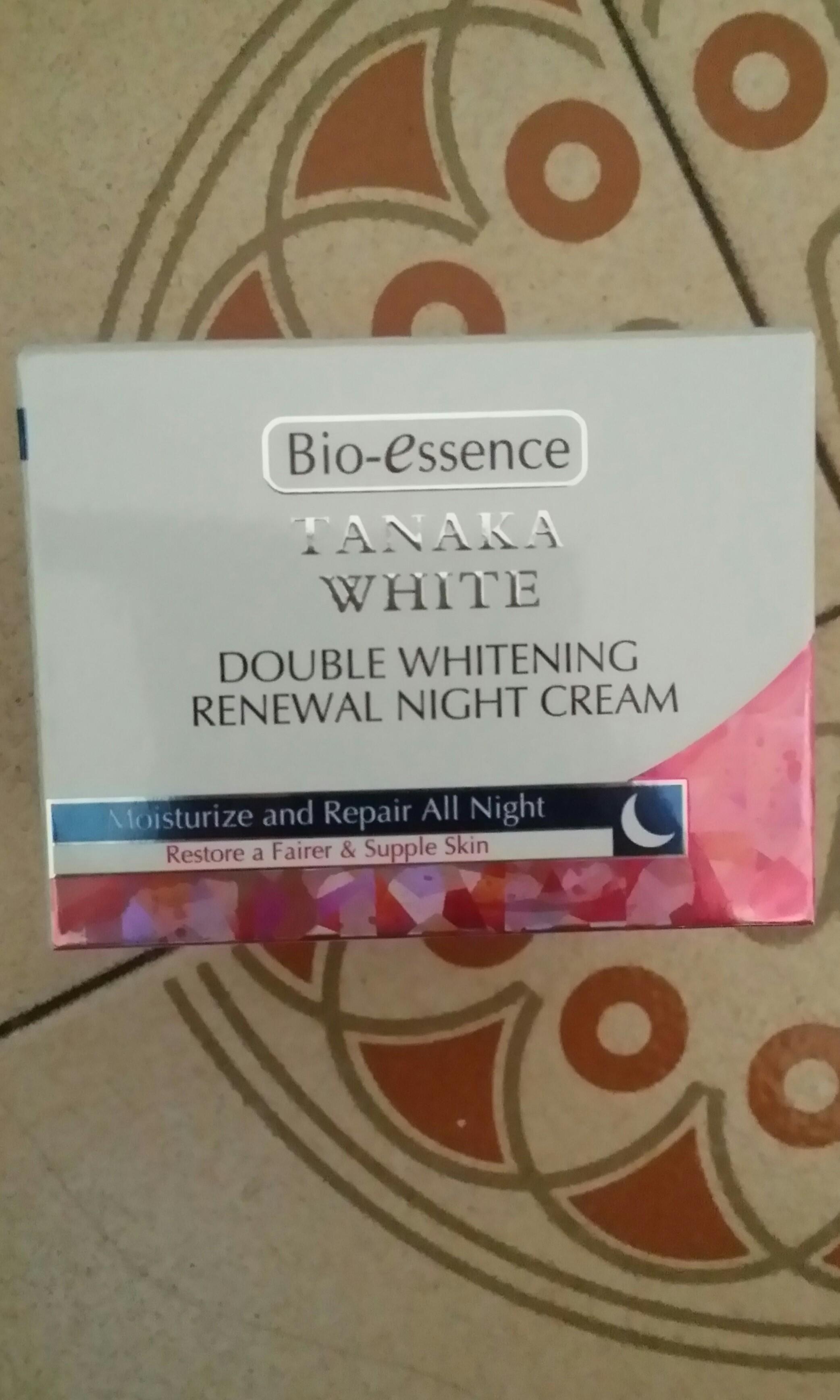 Bio Essence Tanaka White Double Whitening Renewal Night Cream 50 Gr Face Lifting 40gr Harga