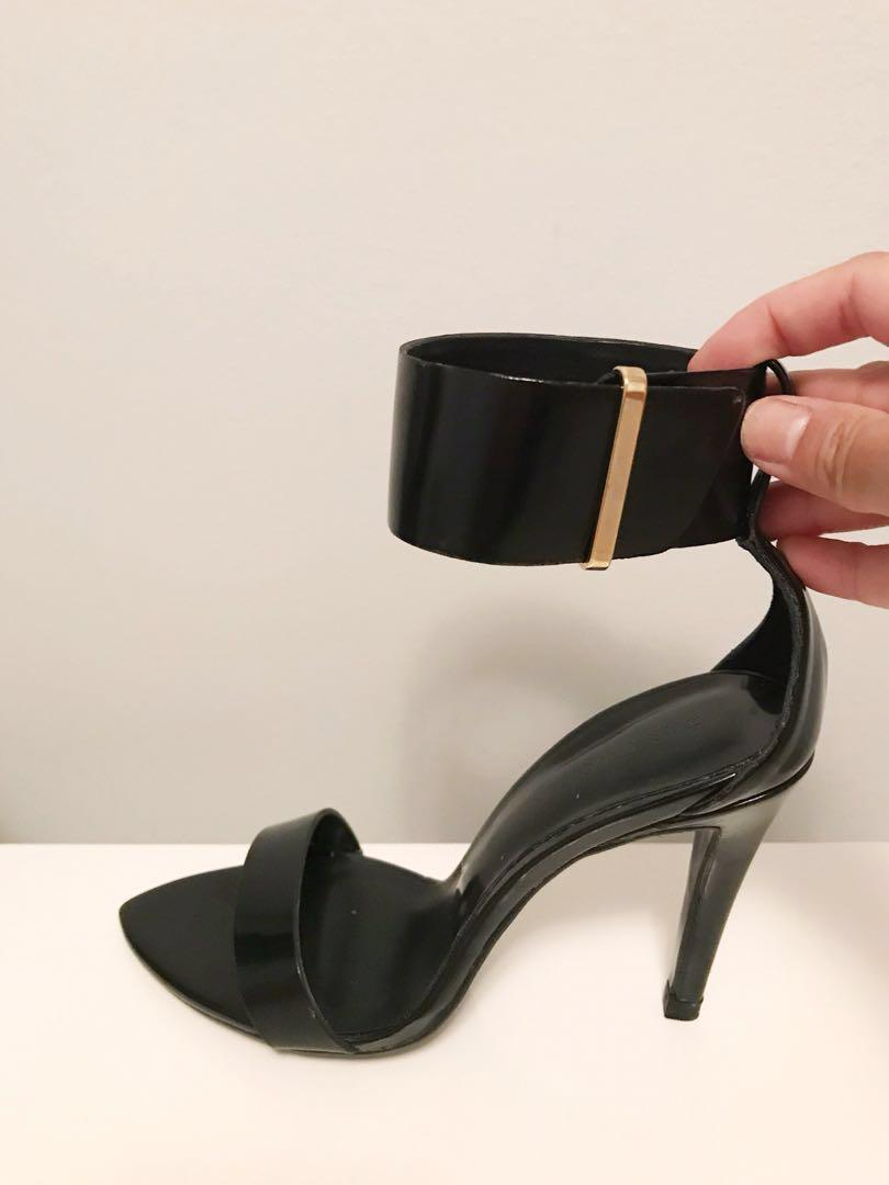 Brand new with tag Zara heels with ankle straps in size 6
