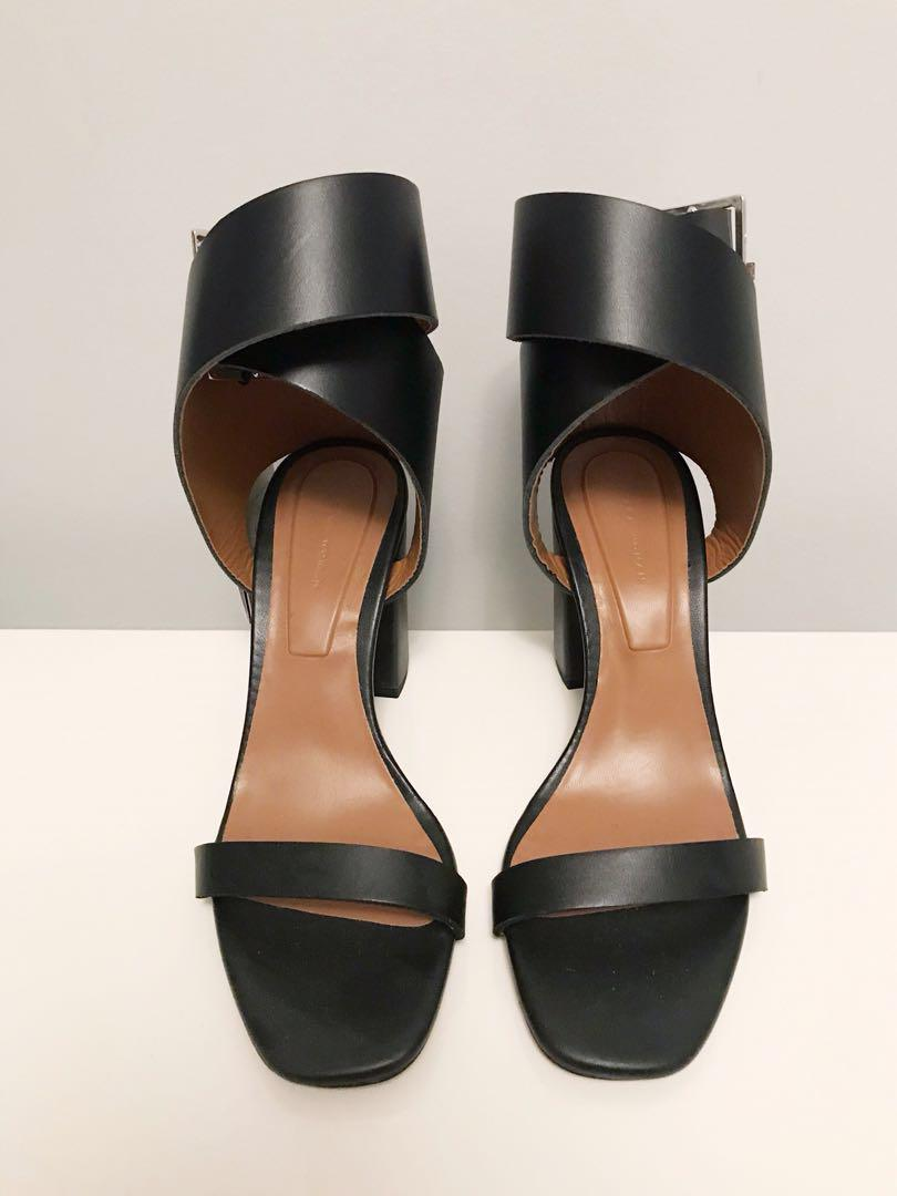 Brand new with tag Zara leather ankle wrap sandals in size 6