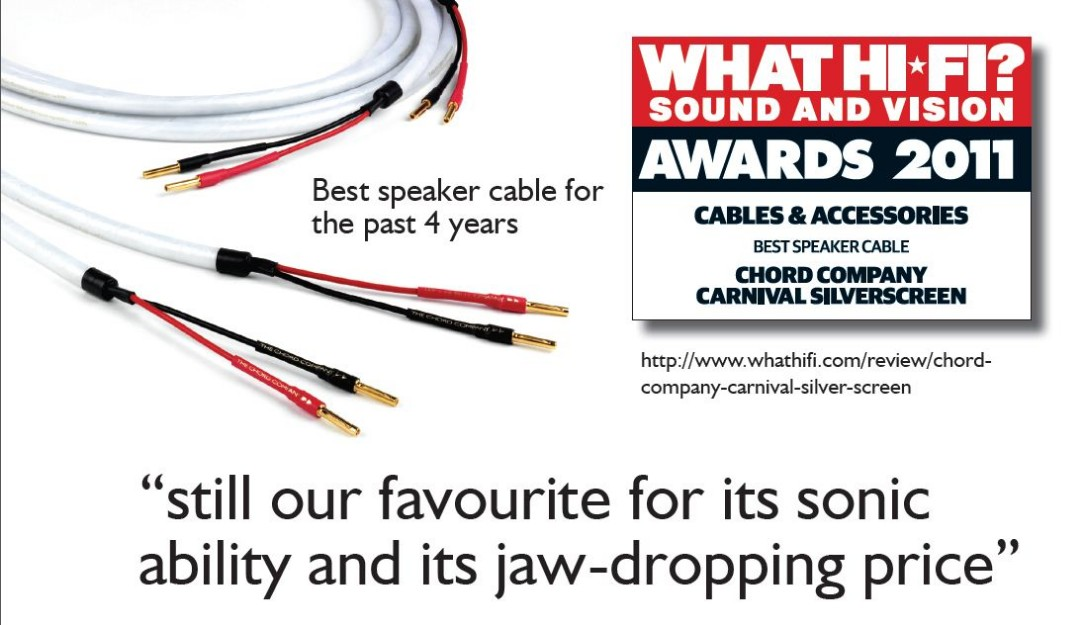 Carnival Silver Screen Speaker Cable 2m x 2