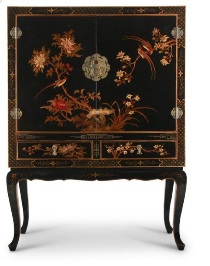 Carved hardstone cabinet vintage