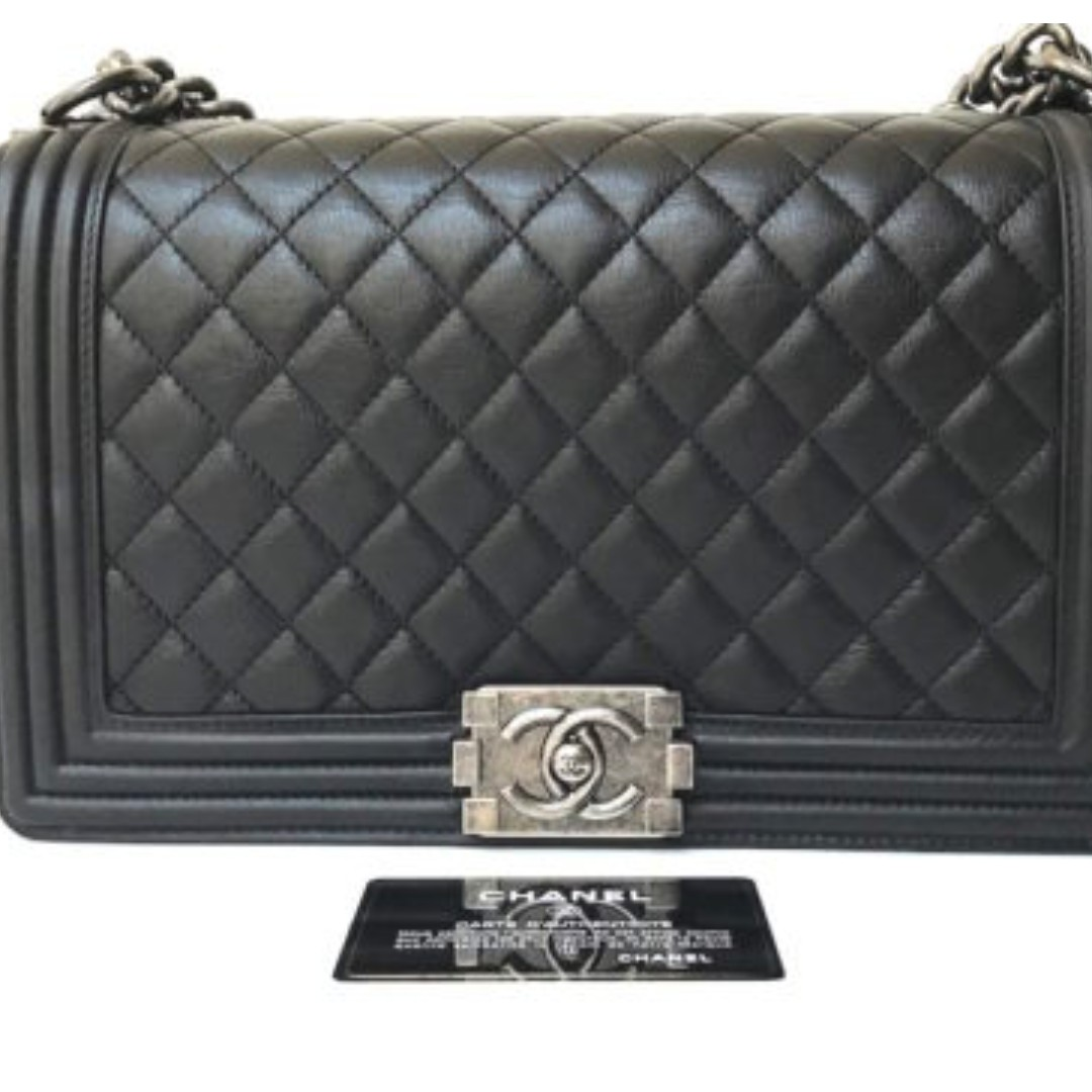2d31367d9e Chanel Boy New Medium in Calf Leather, Women's Fashion, Bags ...