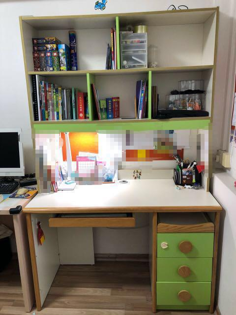 Desk With Top Storage Shelves