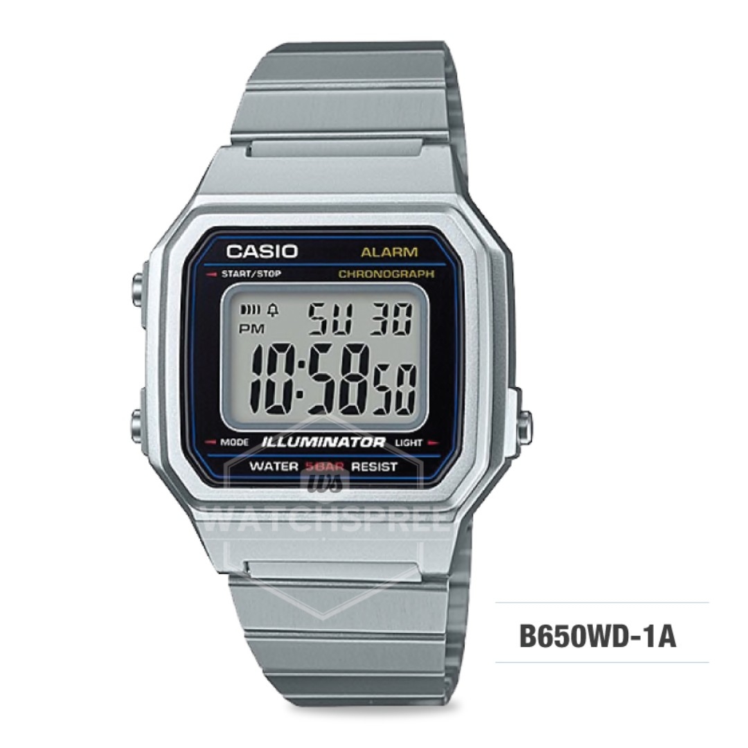 fa14a0fc93e0 FREE DELIVERY  CASIO GENUINE   B650WD-1A  100% Authentic with 1 Year ...