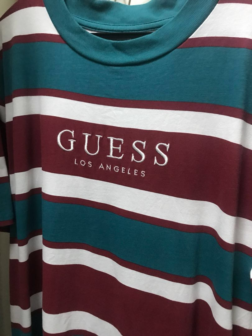 discount shop closer at shopping Guess St James striped tee SIZE M, Men's Fashion, Clothes ...