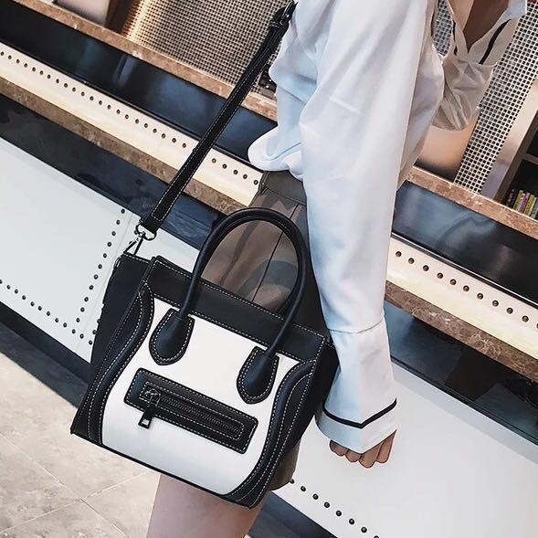 Handbag   Sling Bag Celine style 2-way Hand Bag small office work ... 4e43037117762