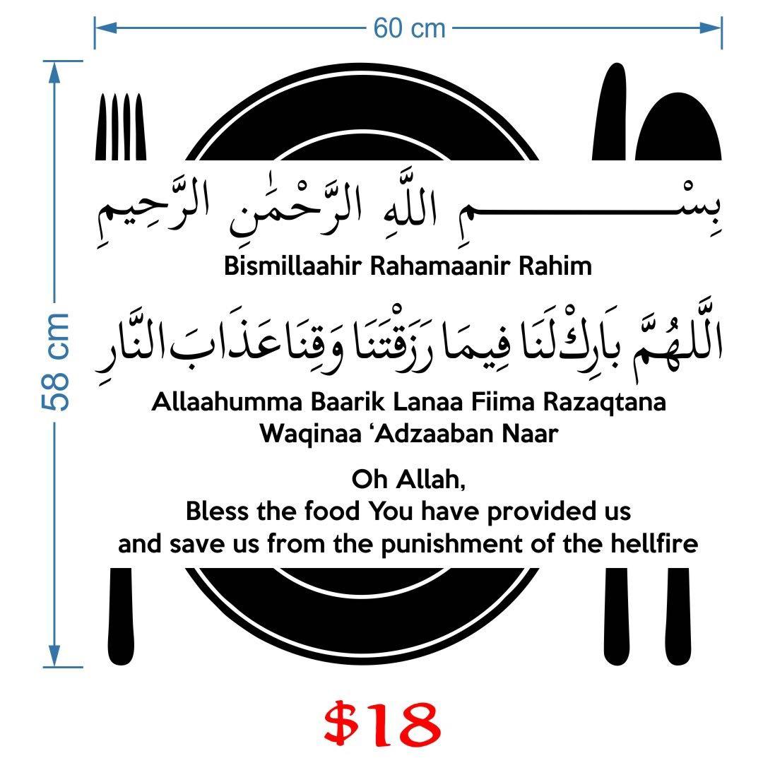 Maksud Doa Makan In English