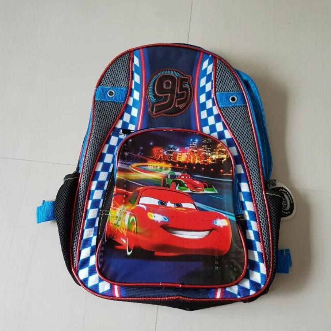 598205cd2b7 Kid's Disney Cars Backpack Bag, Kids School Bag, Books & Stationery ...