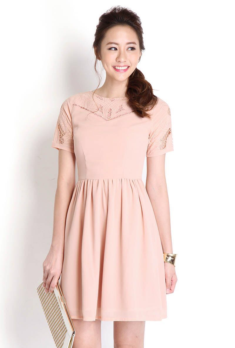 f10c683d5fe Lilypirates Ivory Rose Dress in Dusty Pink