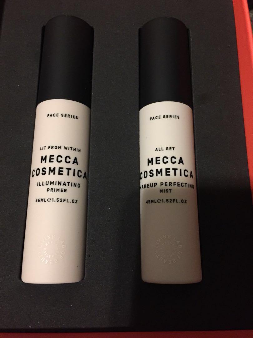 Mecca cosmetica beauty loop primer + makeup setting spray $80