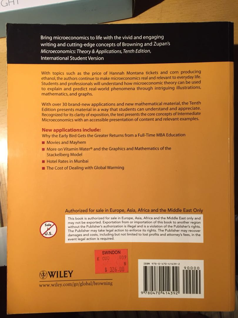 Formato PDF Microeconomics Theory And Applications 10th