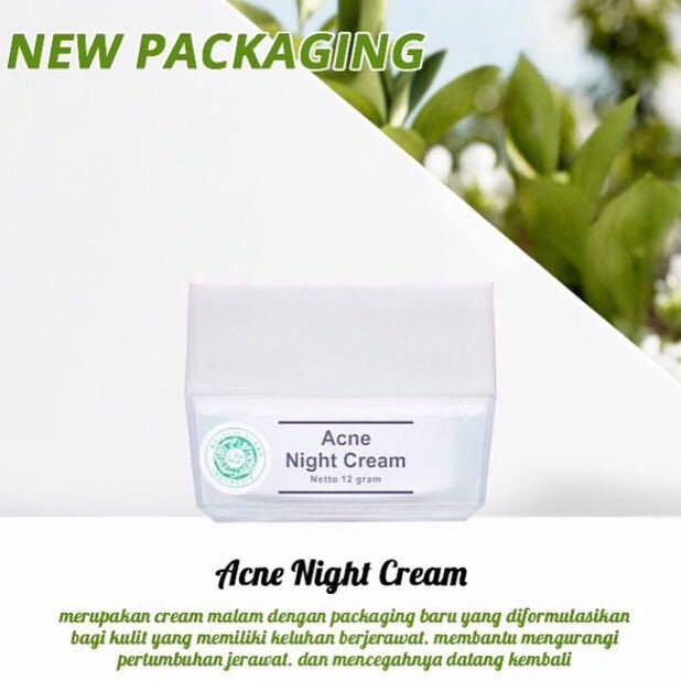 MS Glow Acne Night Cream, Health & Beauty, Skin, Bath, ...