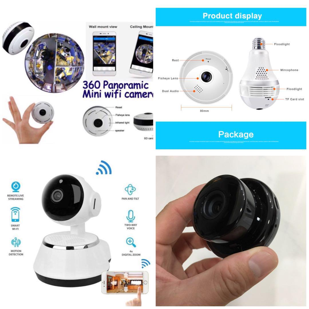 New Ready Stock Wifi Security Monitor CCTV Camera With Infra