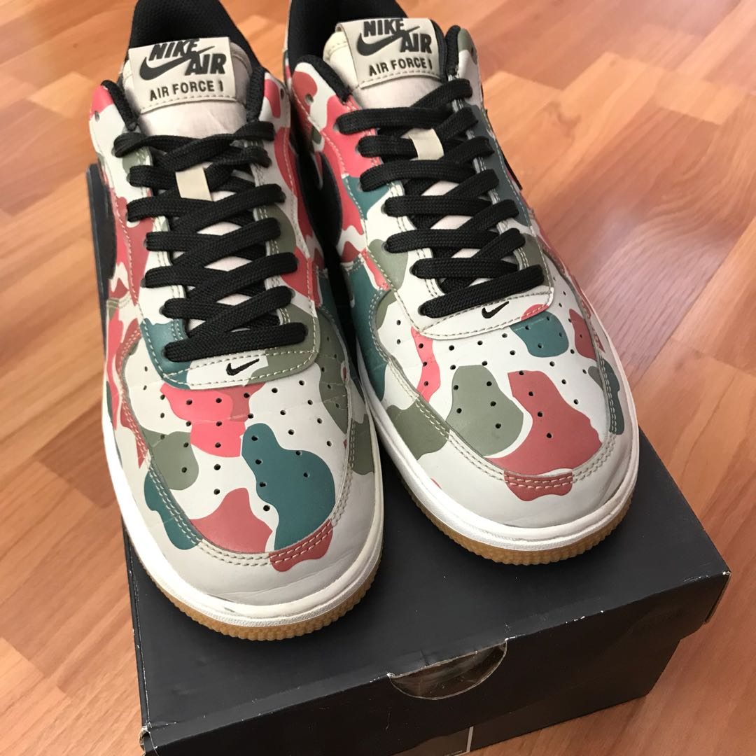 b2efac470b824 Nike Air Force 1 'Reflective Camo', Men's Fashion, Footwear, Sneakers on  Carousell