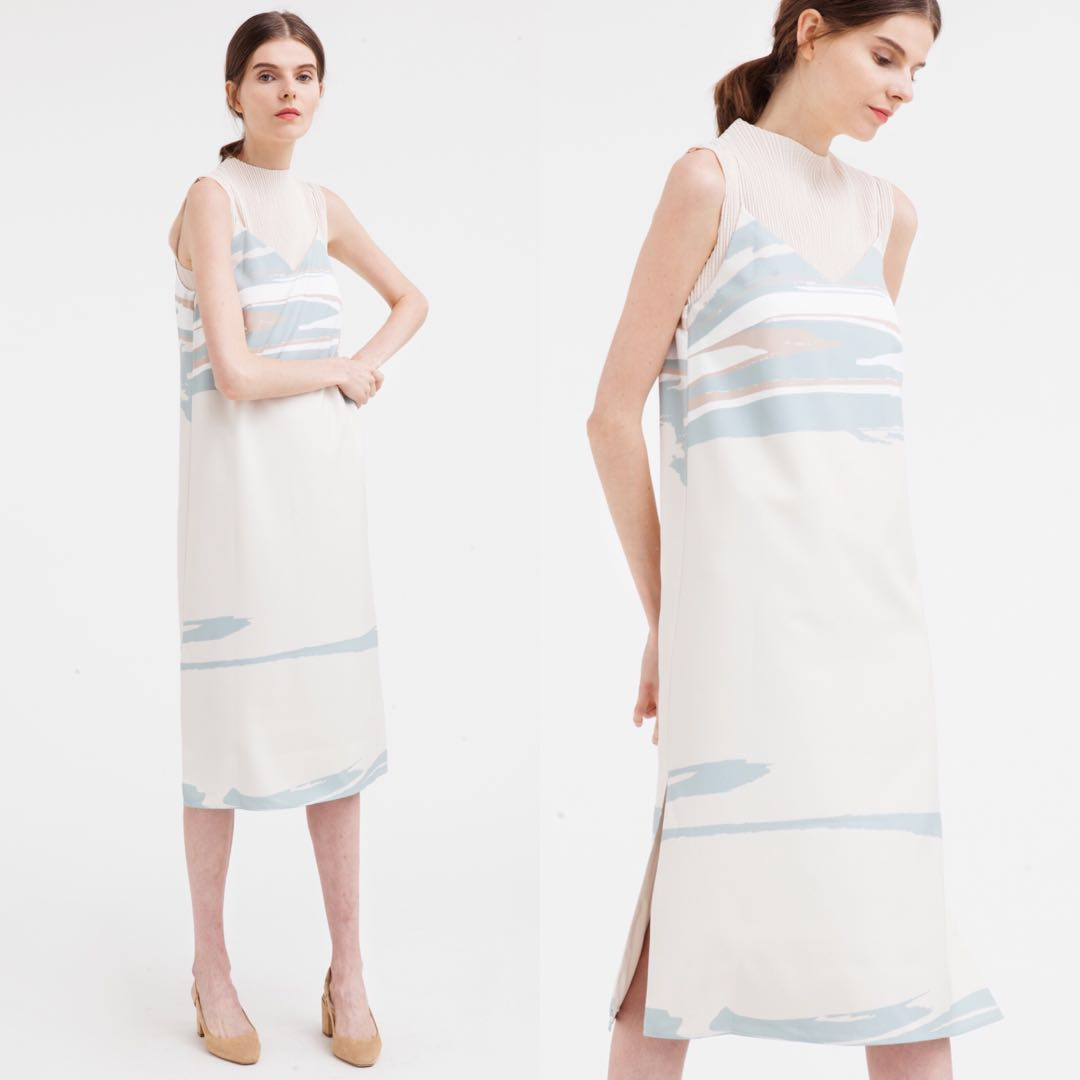 741aae100c5 Our Second Nature Wavelength Slip Dress, Women's Fashion, Clothes ...