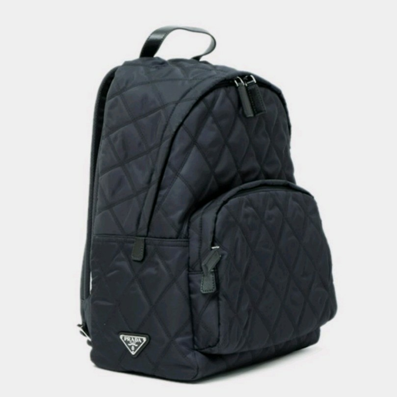 4b6c9afc5cb Black Prada backpack / Prada Bag ( quilted rucksack), Luxury, Bags &  Wallets, Backpacks on Carousell