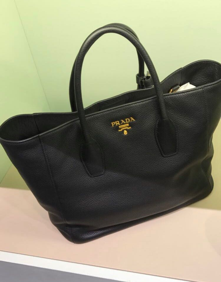 PRADA Leather Tote Bag - 1BG694, Women s Fashion, Bags   Wallets, Handbags  on Carousell 4cf2379c94