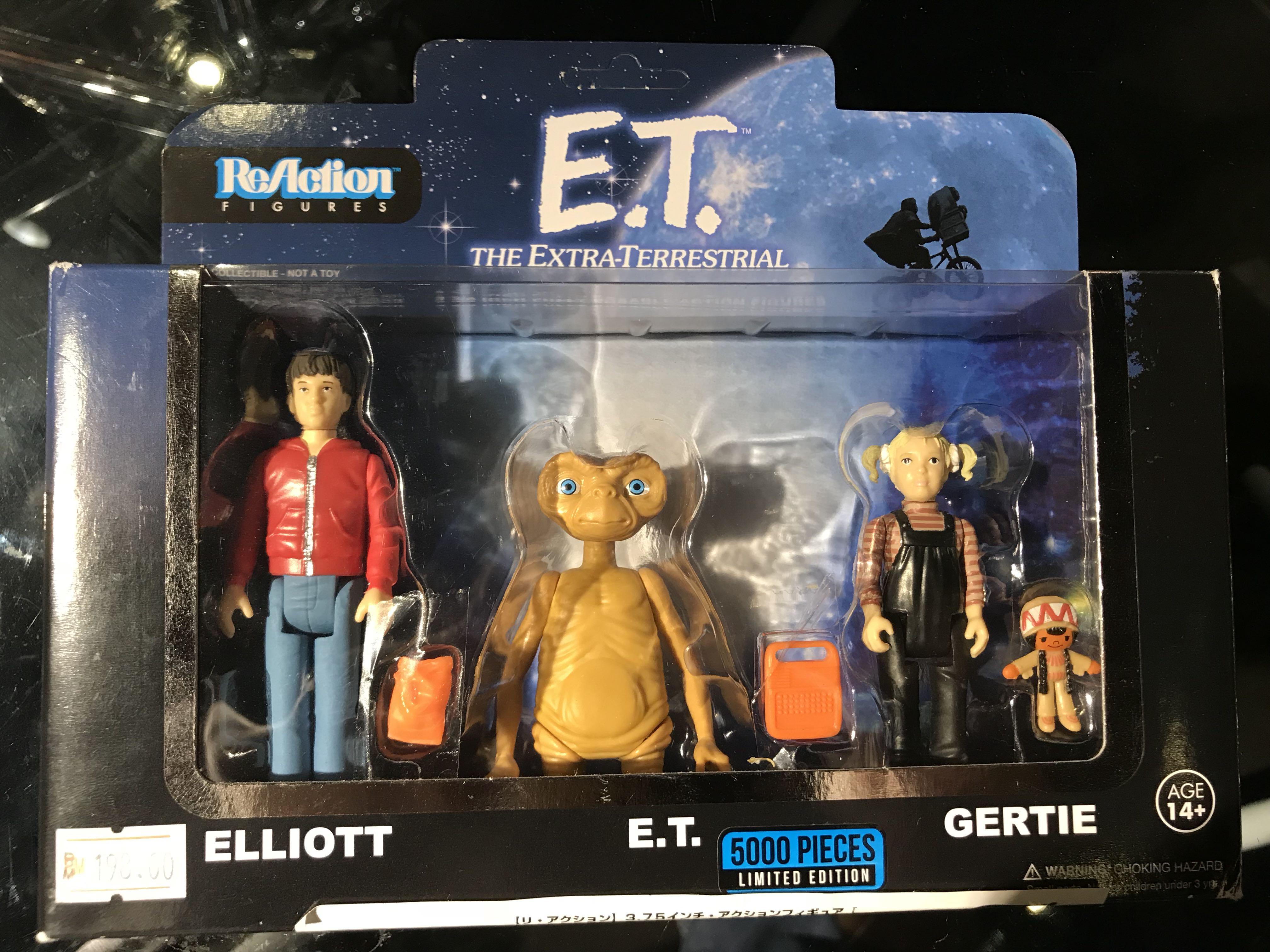 ReAction Action Figure 3-Pack Elliot et gertie limited edition E.T