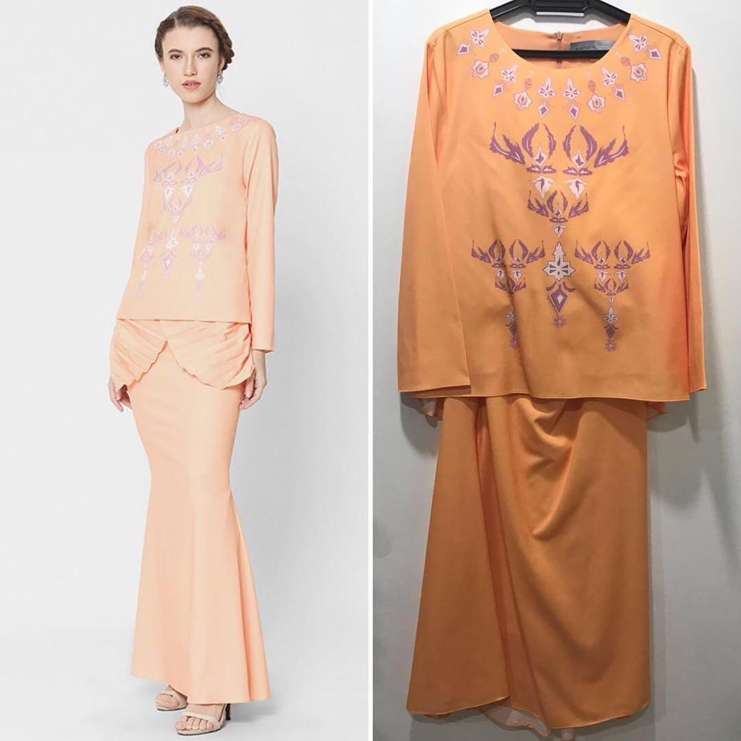 Reducedmimpikita Freya Printed Kurung Orange Fesyen Wanita Ghita Top Putih Pakaian Lain Di Carousell