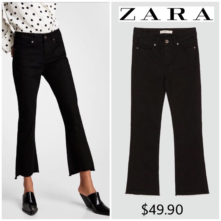 71a2fe0c RTP$49.90 NWT Zara Mini Flared Jeans With Frayed Hem Euro40 / UK12 ...