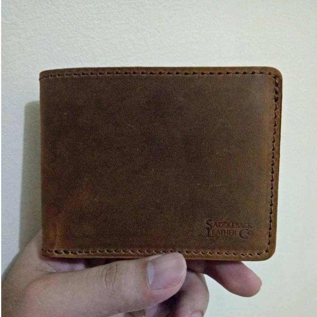 020a170b64afa Saddleback Medium Bifold Wallet ID Window Tobacco Full Grain Leather ...