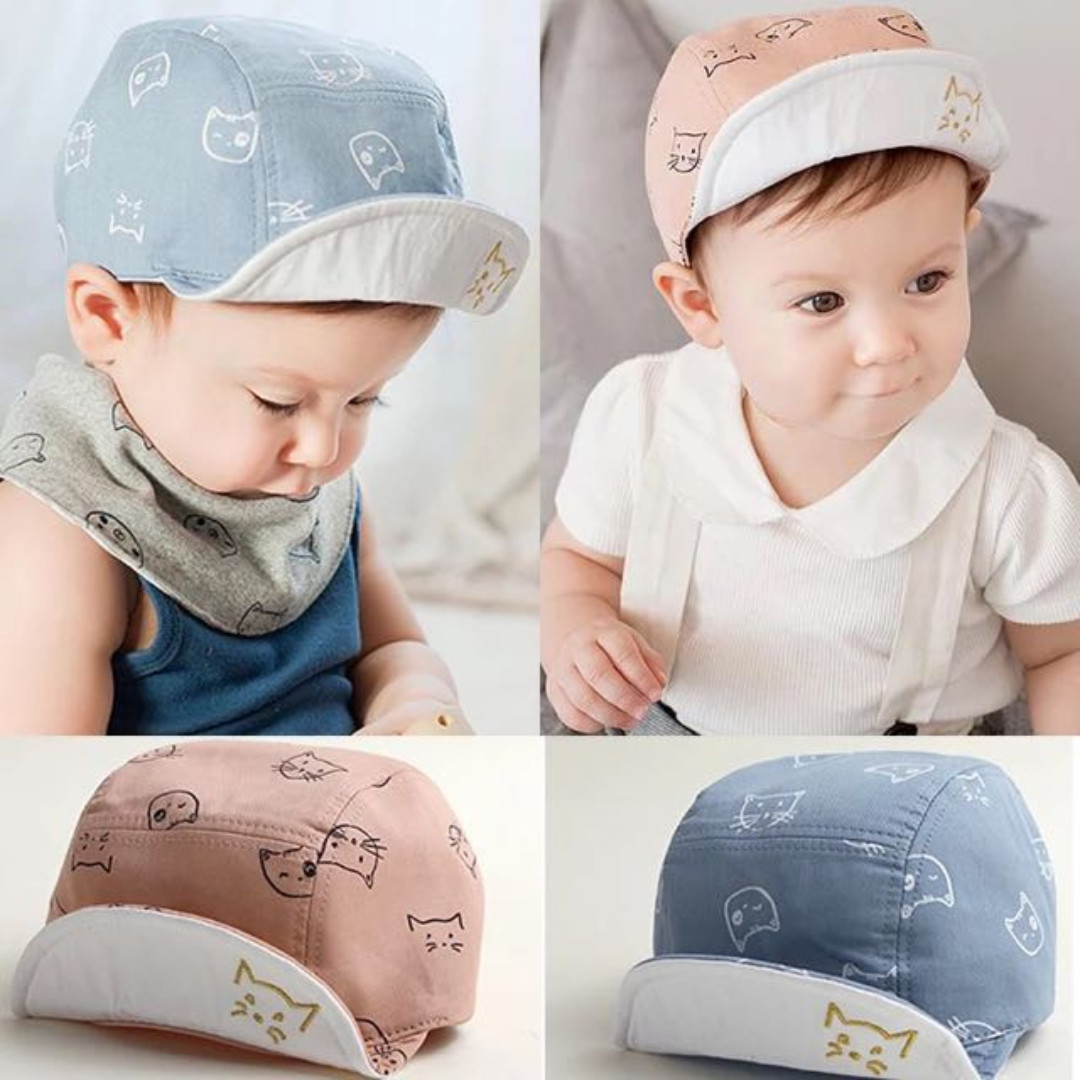 79b504c914610 ✓️STOCK - BESTSELLER KOREAN CUTE CAT BABY BOY CAP SUN HAT CHILDREN ...