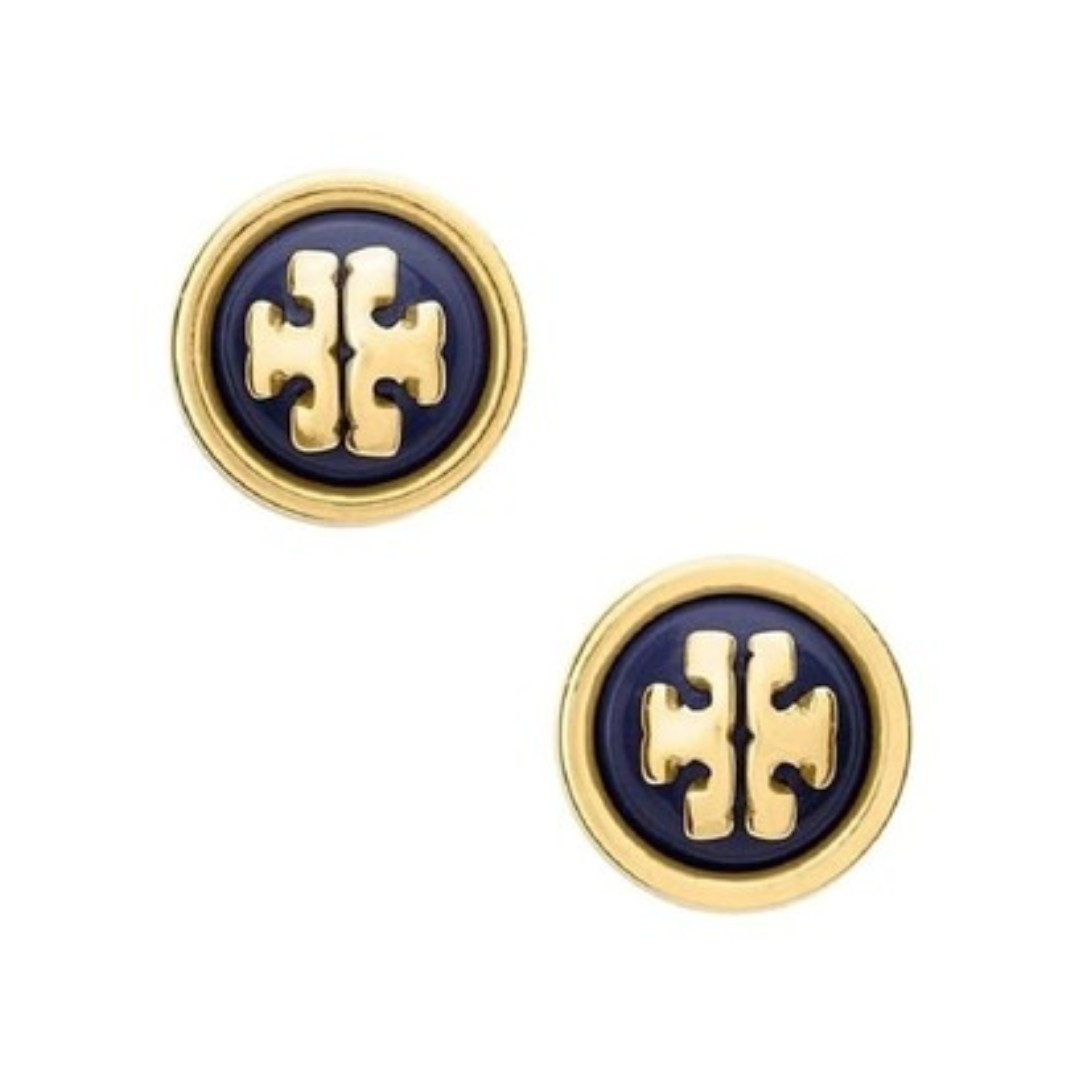 cc59e532d477e Tory Burch Melodie Stud Earrings in Navy (IN STOCK)